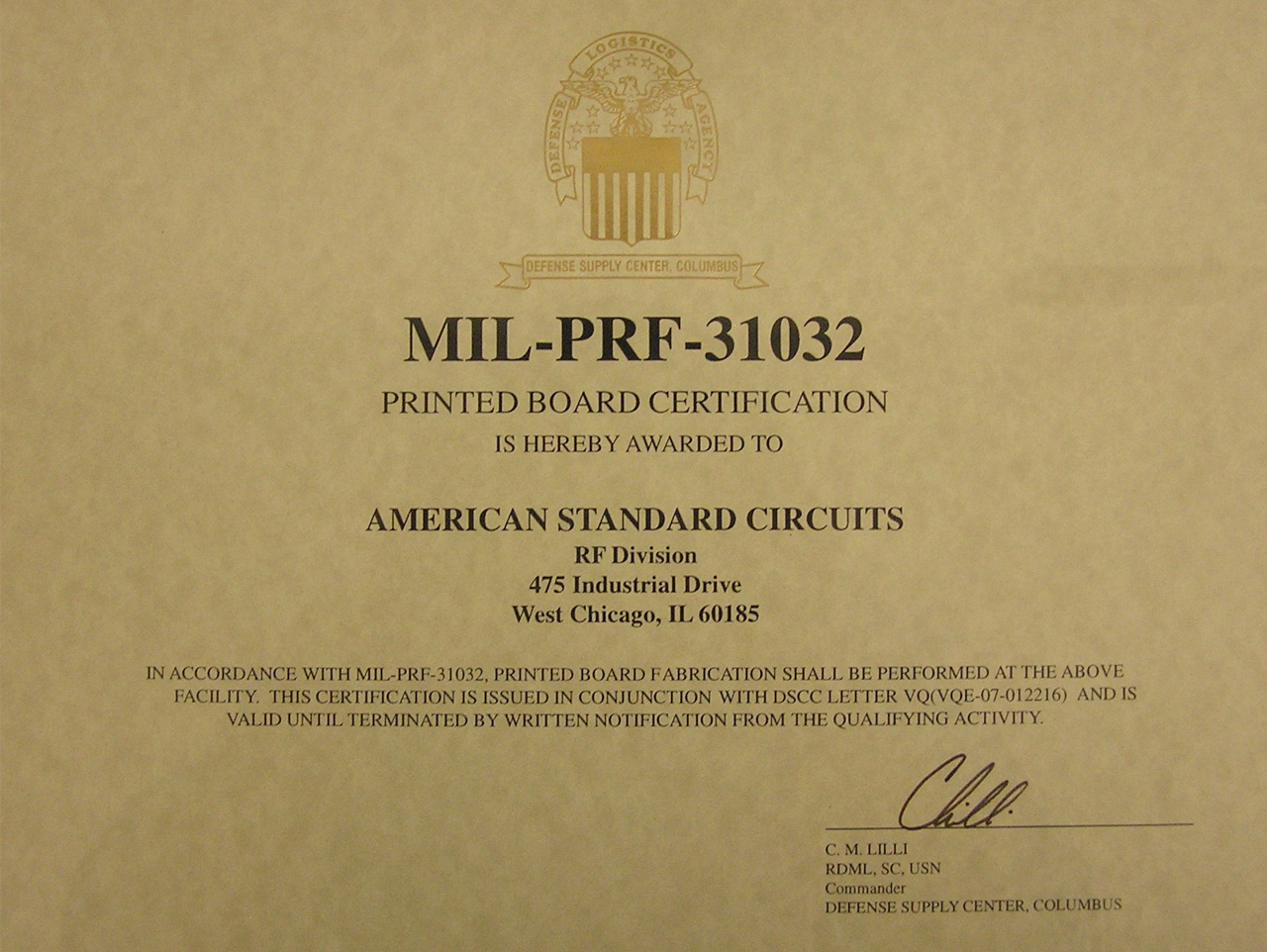 American Standard Circuits Our Quality Printed Wiring Board Definition Mil Prf 31032